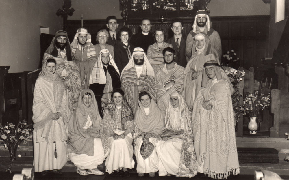 Church Nativity Play 1950s