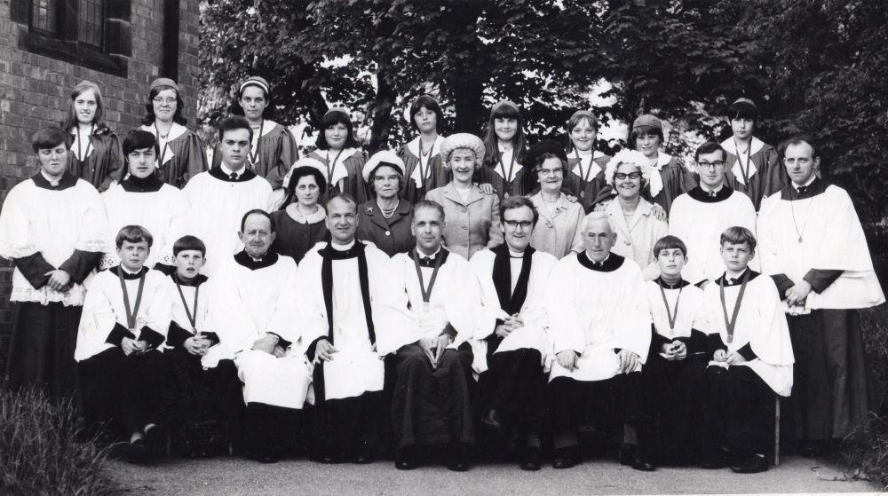 St Johns Church Choir 1968 or 1969