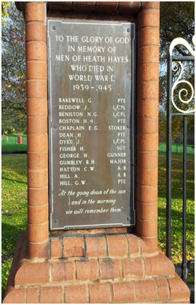 Heath Hayes War Memorial