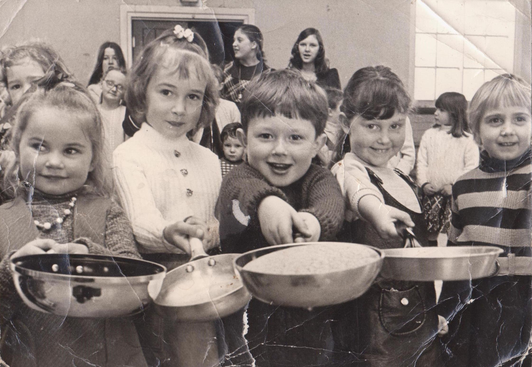 St Johns Church Playgroup 1971 Pancake Day